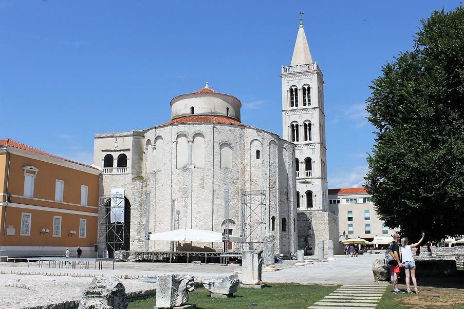 Une sortie à ZADAR, pour visiter et grimper tout en haut du clocher de la cathédrale Saint Anastasie